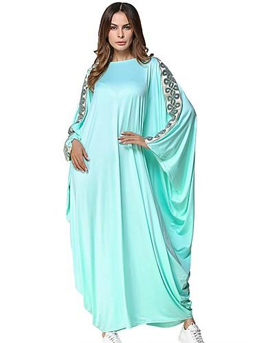 levne Maxi šaty-Dámské Tunika Šaty - Jednobarevné Maxi / Velkoformátové