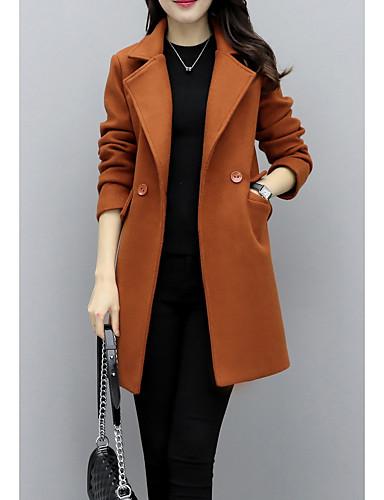 2c314b19e4fa Γυναικεία Καθημερινά   Καθημερινά Ρούχα Κομψό στυλ street Φθινόπωρο   Χειμώνας  Κανονικό Παλτό
