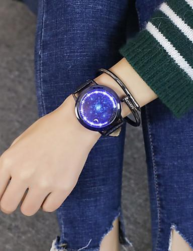 Ανδρικά Γυναικεία Ρολόι Καρπού Ψηφιακό ρολόι Ψηφιακή Συνθετικό δέρμα με επένδυση Μαύρο / Καφέ 30 m Καθημερινό Ρολόι Απίθανο Μεγάλο καντράν Αναλογικό-Ψηφιακό Καθημερινό - Μαύρο Καφέ / Ενας χρόνος