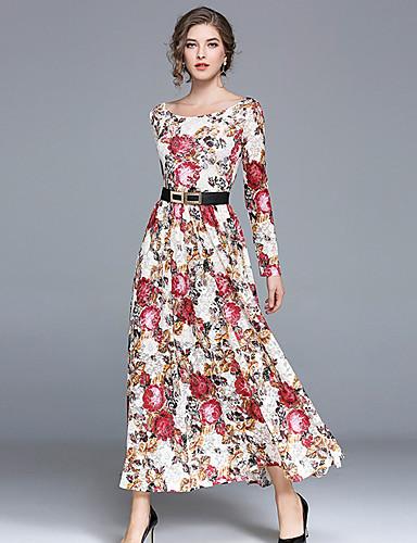 af7e2f5b3006 Γυναικεία Καθημερινό Δαντέλα Φόρεμα - Μονόχρωμο Μακρύ Χαμόγελο   Άνοιξη    Φθινόπωρο 6437549 2019 –  25.99