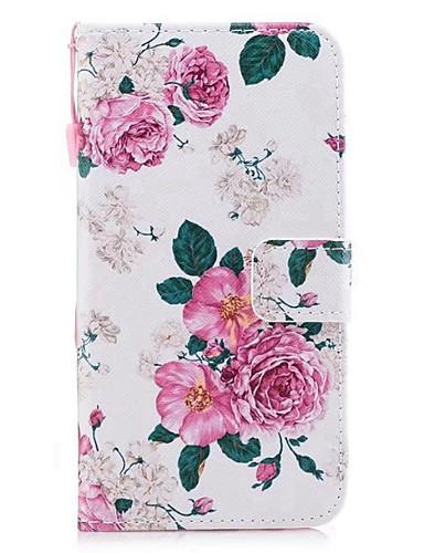 tok Για Huawei Mate 10 / Huawei Πορτοφόλι / Θήκη καρτών / με βάση στήριξης Πλήρης Θήκη Λουλούδι Σκληρή PU δέρμα