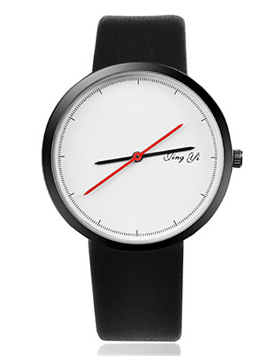 Γυναικεία Καθημερινό Ρολόι / Μοδάτο Ρολόι / Ρολόι Καρπού Κινέζικα Καθημερινό Ρολόι Δέρμα Μπάντα Καθημερινό / Κομψό Μαύρο / Λευκή