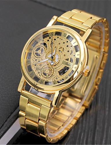 Ανδρικά Ρολόι Καρπού Χαλαζίας Ασημί / Χρυσό Καθημερινό Ρολόι Αναλογικό Πολυτέλεια Καθημερινό Μοντέρνα Κομψό - Χρυσό Ασημί