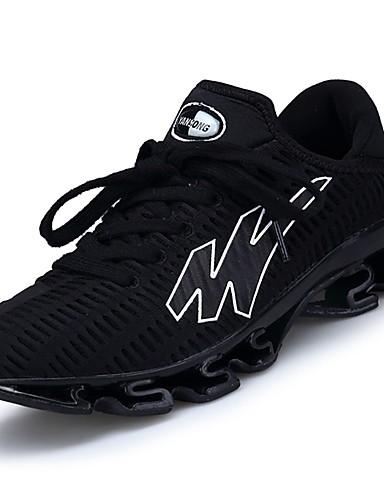 billige Shoes & Bags Must-have-Herre Komfort Sko Gummi Vår / Høst Sportssko Løp Svart / Grønn / Blå