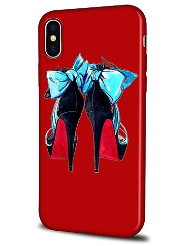 Capinha Para Apple iPhone X / iPhone 8 Plus / iPhone 8 Estampada Capa traseira Desenho Animado Macia TPU
