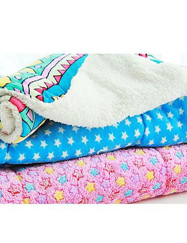 preiswerte Hundebetten & Decken-Katze Hund Matratzen Unterlage Betten Bettdecken Stoff Haustiere Decken Geometrisch Sterne Blau Rosa Regenbogen
