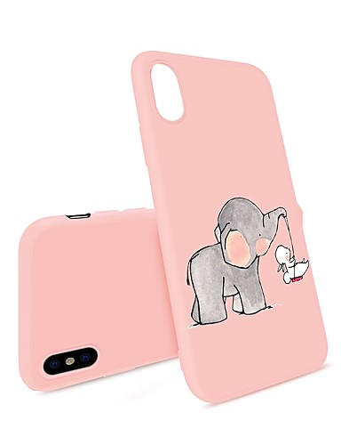 tok Για Apple iPhone XS / iPhone XR / iPhone XS Max Με σχέδια Πίσω Κάλυμμα Κινούμενα σχέδια / Ελέφαντας Μαλακή TPU