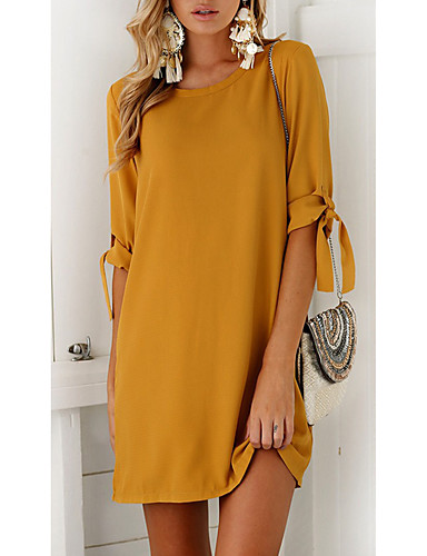8c5565efb457 Women s Going out Casual Loose Dress - Solid Colored Mini   Summer 6432787  2019 –  16.79
