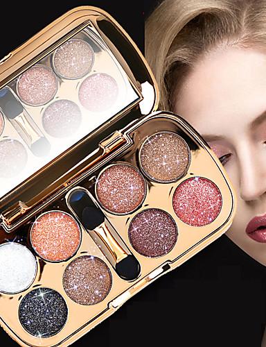 preiswerte Marken Make-up-8 Farben Lidschatten Puder Schimmer EyeShadow Matt Schimmer Formaldehyd-frei Glänzender Schein rauchig Praktisch Alltag Make-up Halloween Make-up Party Make-up Kosmetikum Geschenk