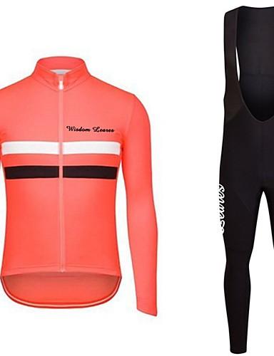 povoljno Odjeća za vožnju biciklom-Wisdom Leaves Žene Dugih rukava Biciklistička majica s tregericama Tamno roza Red+Blue Bicikl Biciklistička majica Sportska odijela Sportski Poliester Geometrijski oblici Brdski biciklizam biciklom