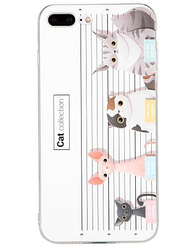 tok Για Apple iPhone X / iPhone 8 Plus / iPhone 8 Ανάγλυφη / Με σχέδια Πίσω Κάλυμμα Γάτα / Ζώο / Κινούμενα σχέδια Μαλακή TPU