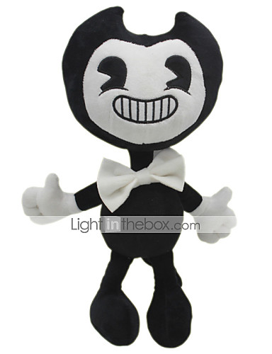 cheap Kids' Dolls, Playsets & Stuffed Animals-30cm Ghost Bendy and The Ink Machine Classic Theme Stuffed Animal Plush Toy Cute For Children Animals Girls' Toy Gift 1 pcs