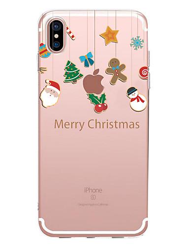 preiswerte FORHIM-Hülle Für Apple iPhone XS / iPhone XR / iPhone XS Max Transparent / Muster Rückseite Weihnachten Weich TPU