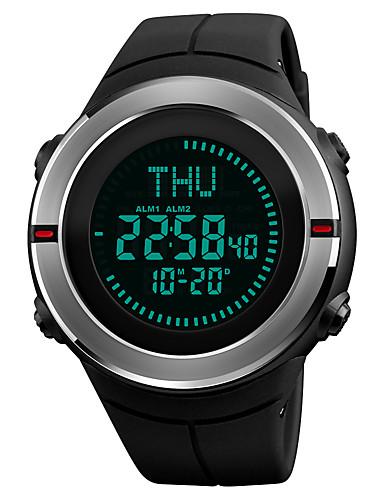 SKMEI Ανδρικά Αθλητικό Ρολόι Ρολόι Καρπού Ψηφιακό ρολόι Ιαπωνικά Ψηφιακό Συνθετικό δέρμα με επένδυση Μαύρο 50 m Ανθεκτικό στο Νερό Συναγερμός Ημερολόγιο Ψηφιακό Πολυτέλεια Καθημερινό - Μαύρο Κόκκινο