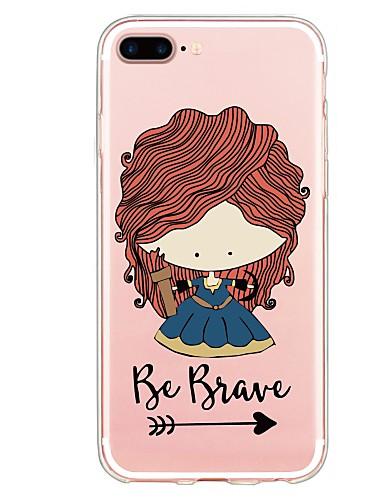 tok Για Apple iPhone X / iPhone 8 Plus / iPhone 8 Με σχέδια Πίσω Κάλυμμα Σέξι κυρία / Κινούμενα σχέδια Μαλακή TPU