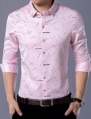 852fff45d283 Men's Casual / Daily Work Boho Shirt - Geometric Print White XXXL / Long  Sleeve 6436650 2019 – $17.84