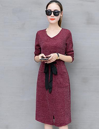 30cf1d7cb0e3 Dame I-byen-tøj Simple Skede Knælang Kjole