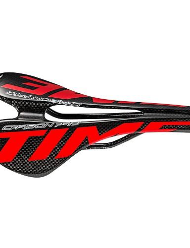preiswerte Sattelstützen & Sättel-Fahrradsattel Leicht Atmungsaktiv Comfort Hohlkonstruktion Kohlefaser Radsport Rennrad Geländerad Rot