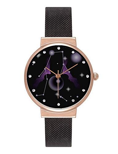 2c5f9ba323d Homens Mulheres Relógio de Pulso Relógio de Moda Japanês Quartzo Fase da  lua Aço Inoxidável Banda Colorido Preta Prata Ouro Rose de 6459374 2019 por   11.99