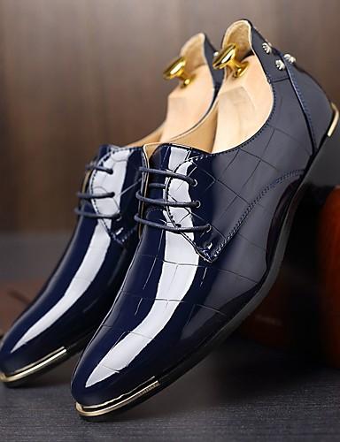 billige Oxford-sko til herrer-Herre Komfort Sko Oxford Vår / Høst Britisk Oxfords Svart / Navyblå / Rød / Fest / aften / Nagle / Fest / aften / EU40