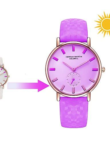 ca889c7c4fd8 Mujer Reloj de Pulsera Japonés Cuarzo Cuero Auténtico Blanco   Azul   Rojo  30 m Reloj Casual Analógico damas Casual Moda - Morado Rojo Azul 6459434  2019 – ...