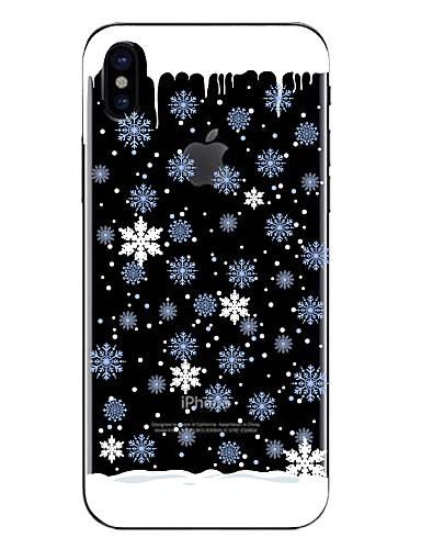 preiswerte FORHIM-Hülle Für Apple iPhone X / iPhone 8 Plus / iPhone 8 Transparent / Muster Rückseite Weihnachten Weich TPU