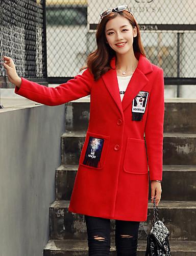 599daa675fac Γυναικεία Καθημερινά Κομψό στυλ street Φθινόπωρο   Χειμώνας Κανονικό Παλτό