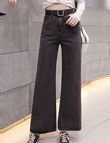 3198057f6 Mujer Tiro Alto Chinos Vaqueros Pantalones - Un Color 6433641 2019 –  18.99