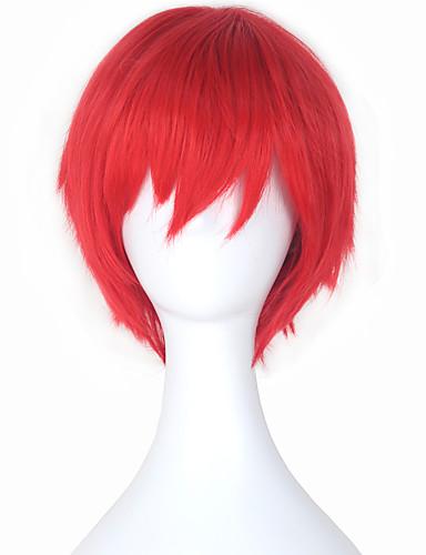 povoljno Anime cosplay-ubojstvo Učionica Cosplay Wigs Muškarci Žene 12 inch Otporna na toplinu vlakna Crvena Anime