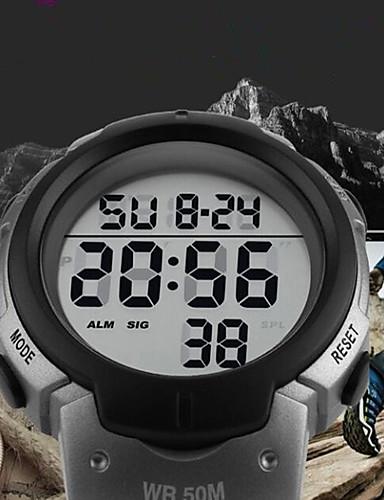 SKMEI Ανδρικά Αθλητικό Ρολόι Ψηφιακό ρολόι Ψηφιακή Συνθετικό δέρμα με επένδυση Μαύρο 50 m Ανθεκτικό στο Νερό Ημερολόγιο Χρονόμετρο Ψηφιακό Πολυτέλεια Καθημερινό Μοντέρνα - Κόκκινο Πράσινο Μπλε