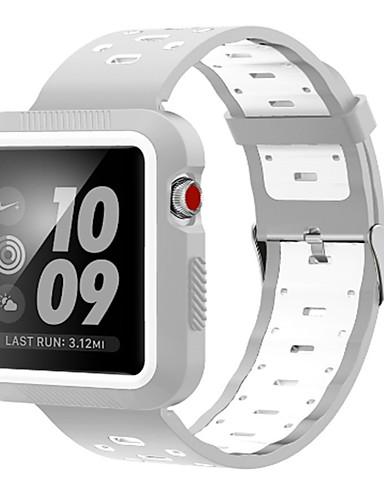 Παρακολουθήστε Band για Apple Watch Series 4/3/2/1 Apple Αθλητικό Μπρασελέ σιλικόνη Λουράκι Καρπού