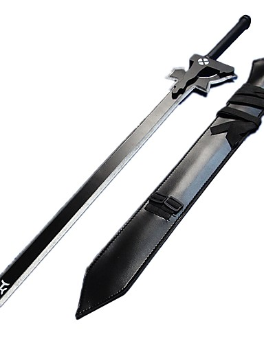 povoljno Anime Cosplay Swords-Sword Inspirirana SAO Alicizacija Kirito / Elucidator Anime Cosplay Pribor Sword Drvo Cool Halloween kostime