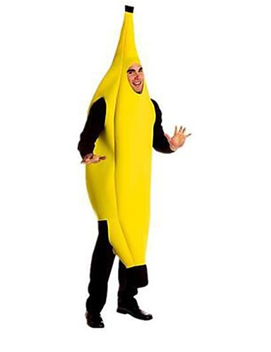 povoljno Maske i kostimi-Banana Cosplay Nošnje Kostim za party Fancy kostim Muškarci Žene Cosplay Smiješno & Nerado Halloween Karneval Festival / Praznik Polyster odjeća Bijela Color block