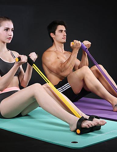 abordables Massive De Folie-Bande de résistance de pédale Corde à tirer assis Extenseur de musculation en latex naturel Des sports Latex Entraînement à la maison Gym Pilates Poids d'Entrainement Entraînement Masse Musculaire