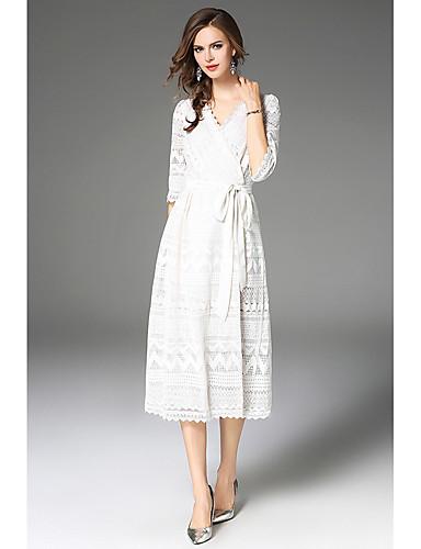 166842fb06e2 Καθημερινά Καθημερινό Δαντέλα Φόρεμα