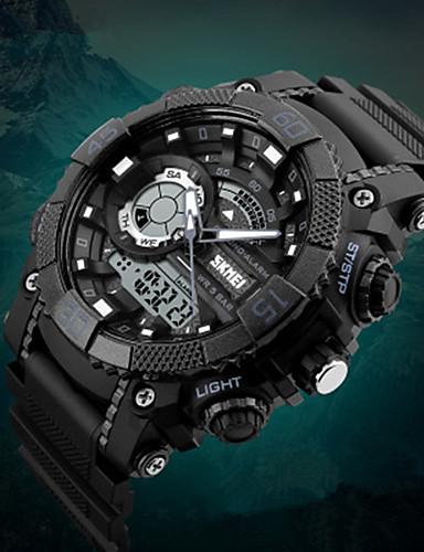 SKMEI Ανδρικά Αγορίστικα Αθλητικό Ρολόι Ψηφιακό ρολόι Ψηφιακή Συνθετικό δέρμα με επένδυση Μαύρο 50 m Ανθεκτικό στο Νερό Ημερολόγιο Χρονόμετρο Αναλογικό-Ψηφιακό Πολυτέλεια Καθημερινό Μοντέρνα -