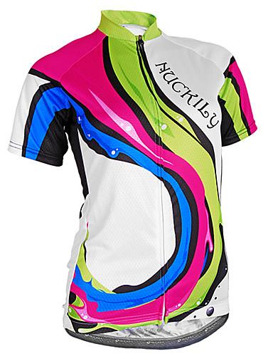 povoljno Biciklističke majice-Nuckily Žene Kratkih rukava Biciklistička majica Kamuflirati Bicikl Biciklistička majica Majice Brdski biciklizam biciklom na cesti Prozračnost Ultraviolet Resistant Reflektirajuće trake Sportski