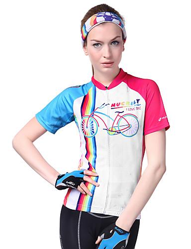 povoljno Biciklističke majice-Nuckily Žene Kratkih rukava Biciklistička majica Kamuflirati Rukav leptir Bicikl Biciklistička majica Majice Brdski biciklizam biciklom na cesti Prozračnost Ultraviolet Resistant Reflektirajuće trake