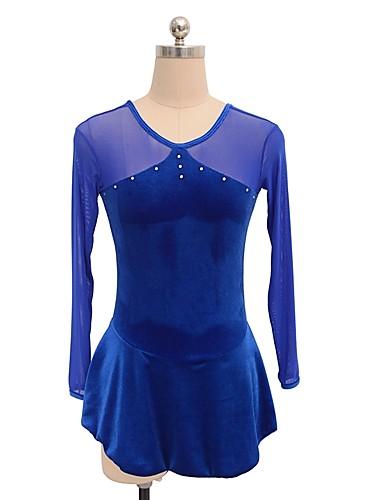 SKMEI Φόρεμα για φιγούρες πατινάζ Γυναικεία Κοριτσίστικα Patinaj Φορέματα Βαθυγάλαζο Spandex Ανταγωνισμός Ενδυμασία πατινάζ Πούλια Μακρυμάνικο Πατινάζ για φιγούρες