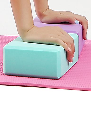 povoljno Vježbanje, fitness i joga-Blok za jogu 1 pcs Visoka gustoća Otporno na vlagu Mala težina Otporno na mirise EVA pjena Potpora različitim pozama Pomoć za ravnotežu i fleksibilnost Za Pilates Fitness Trening u teretani purpurna