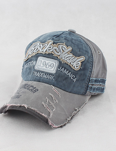 cheap Men's Hats-Men's Work Cotton Baseball Cap Sun Hat-Graphic Stylish Embroidery Dark Gray Navy Blue Army Green