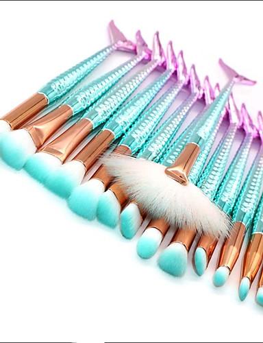 preiswerte Marken Make-up-Professional Makeup Bürsten Lidschatten Pinsel 15pcs Umweltfreundlich Professionell Weich vollständige Bedeckung Synthetik Künstliches Haar Plastik Make-up Pinsel zum