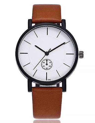 7fad0e5d9059 Hombre Reloj de Pulsera Reloj de Moda Chino Cuarzo Esfera Grande Piel Banda  Casual Minimalista Negro Marrón Gris 6508407 2019 –  12.34
