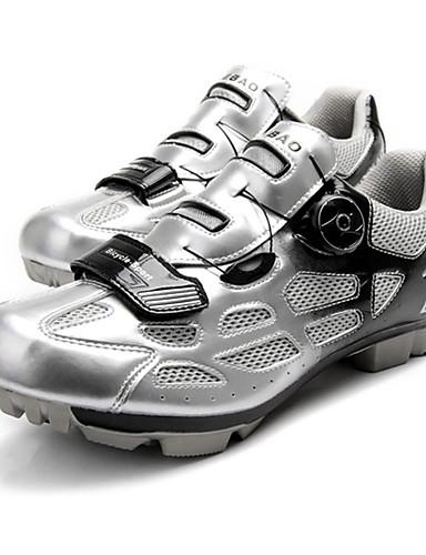 billige Sykling-Tiebao® Voksne Mountain Bike-sko Nylon Pustende Anti-Skli Demping Sykling Svart / Grønn Svart / Blå Svart / Oransje Herre Sykkelsko / Ventilasjon / Syntetisk Mikrofiber PU / Ventilasjon