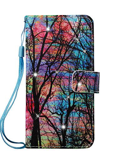 tok Για Apple iPhone 8 Plus / iPhone 8 / iPhone 7 Plus Πορτοφόλι / Θήκη καρτών / Στρας Πλήρης Θήκη Δέντρο Σκληρή PU δέρμα