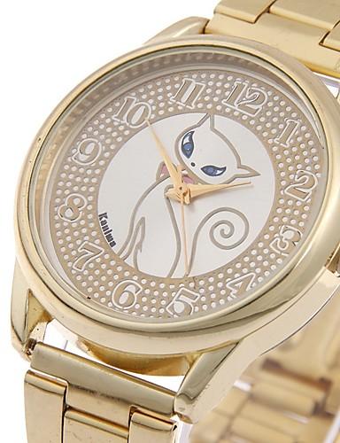 Mulheres Relógio Esportivo Relogio Dourado Quartzo Dourada Relógio Casual Legal Analógico senhoras Luxo Casual Fashion Colorido - Dourado