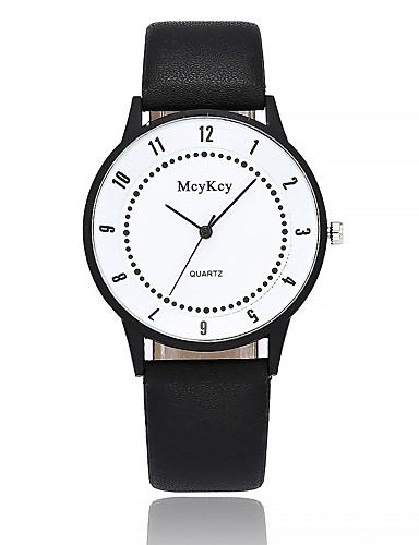 ffd7b5490cdf Mujer Reloj de Pulsera Reloj de Moda Chino Cuarzo Esfera Grande Piel Banda  Casual Minimalista Negro 6529249 2019 –  10.99