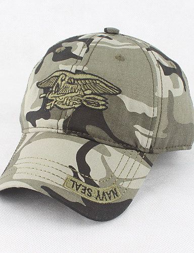 Ανδρικά Μονόχρωμο Καμουφλάζ Γραφείο Βαμβάκι Κομψό-Τζόκεϊ Καπέλο ηλίου Στρατιωτικό Καπέλο Πράσινο του τριφυλλιού Μαύρο Πράσινο Χακί
