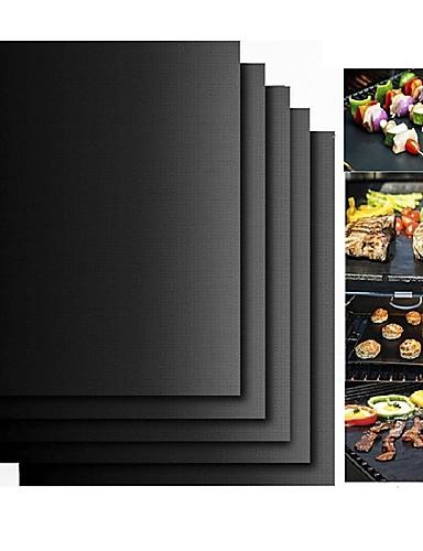 cheap BBQ Tool Set-2pcs Thick ptfe Barbecue Grill Mat non-stick Reusable BBQ Grill Mats Sheet Grill Foil BBQ Liner