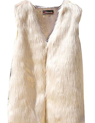 voordelige Damesblazers & jasjes-Dames Dagelijks Eenvoudig / Informeel Herfst Normaal Vest Lange mouw Katoen Print Grijs / Khaki S / M / L